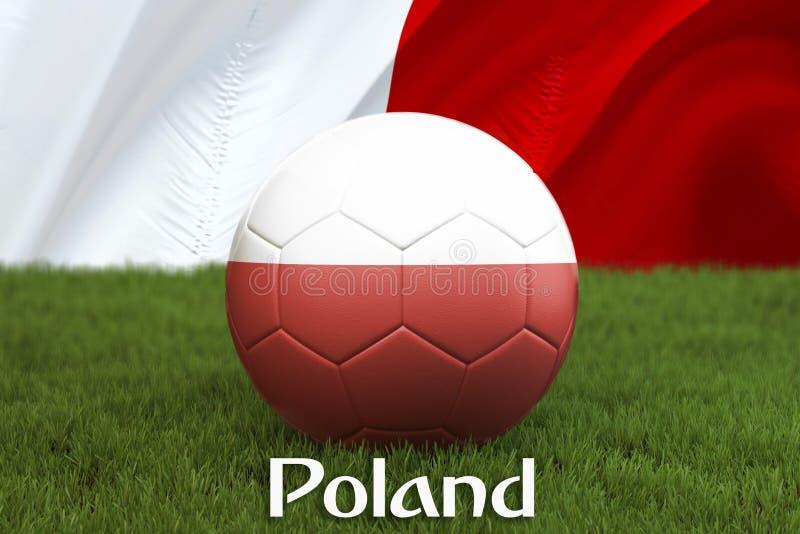 Polen fotbollslagboll på stor stadionbakgrund Begrepp för Polen lagkonkurrens Polen flagga på bolllagturnering i Polan vektor illustrationer