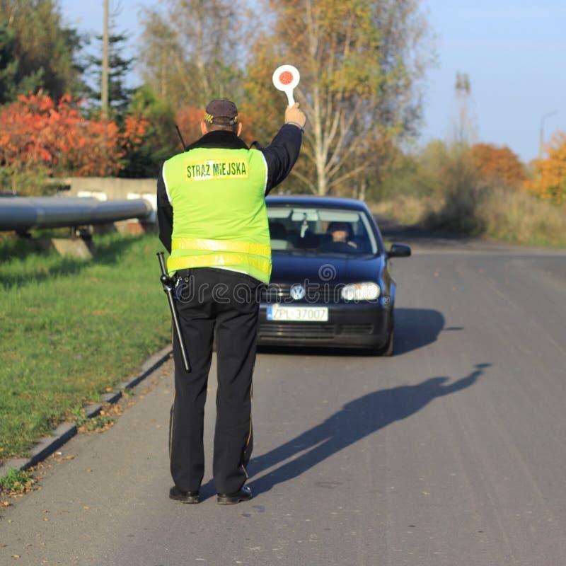 Polen, Gemeentelijke Politie, StraÅ ¼ Miejska stock foto