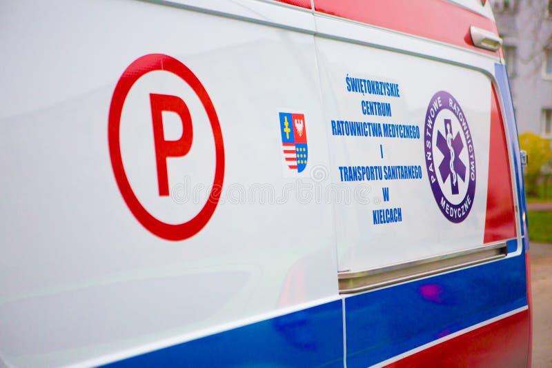 14 11 2019 - Polen/Kielce Ambulance i Polen arkivfoton