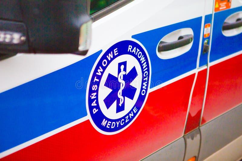 14 11 2019 - Polen/Kielce Ambulance i Polen royaltyfri fotografi
