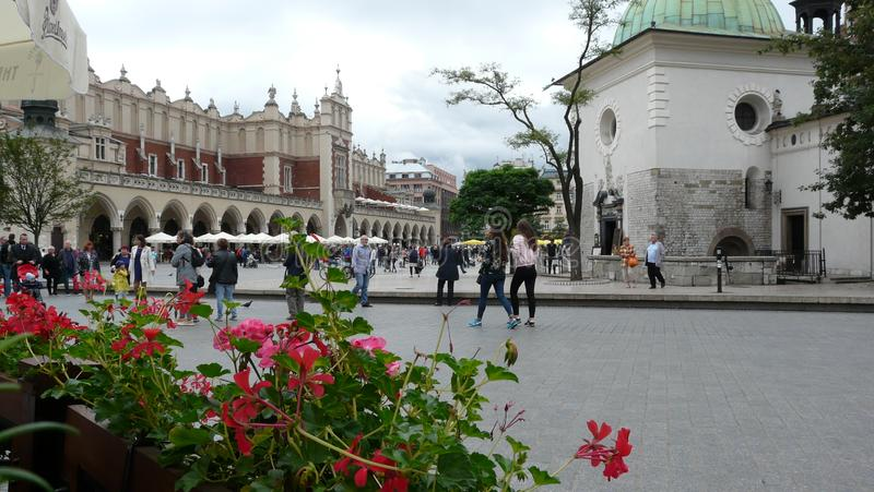 Polen Krakow marknadsfyrkant San Carlos de Bariloche arkivfoton