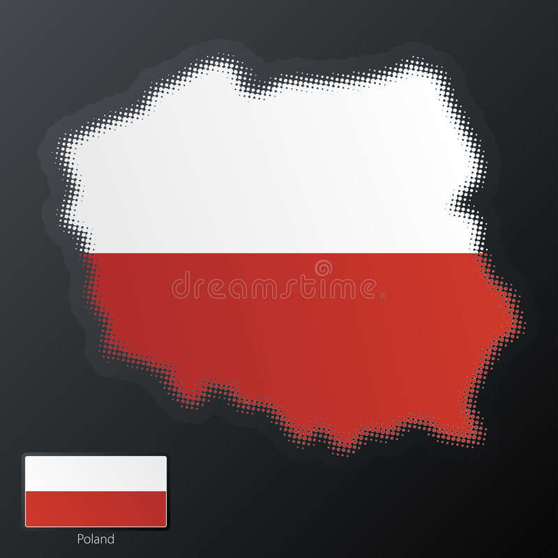 Polen-modernes Halbtonbild lizenzfreie abbildung