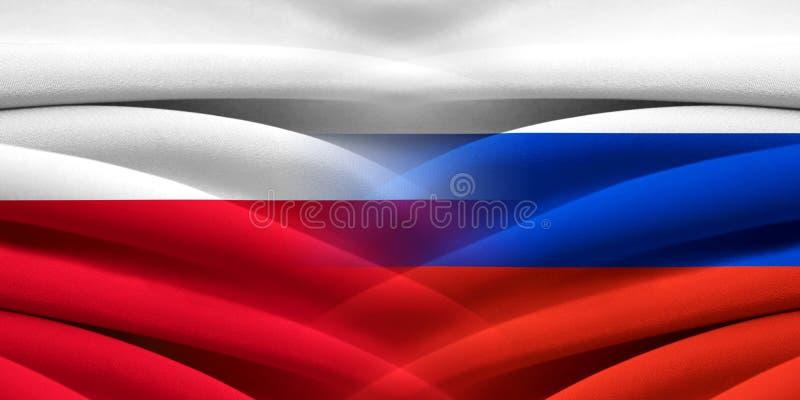 Polen och Ryssland arkivbild