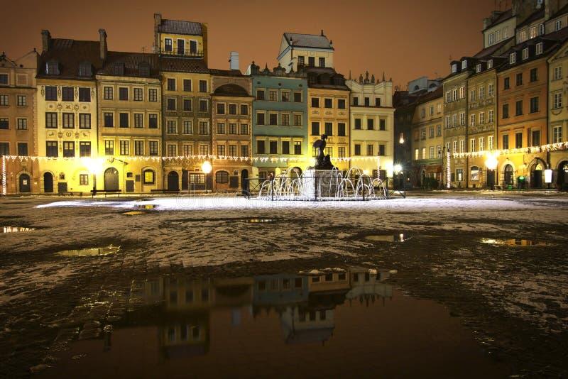 Polen: Oud de stadsvierkant van Warshau stock afbeelding