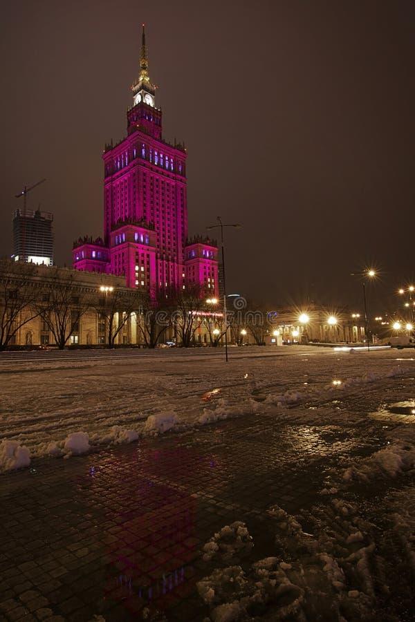 Polen: Paleis van Wetenschap en Cultuur royalty-vrije stock foto