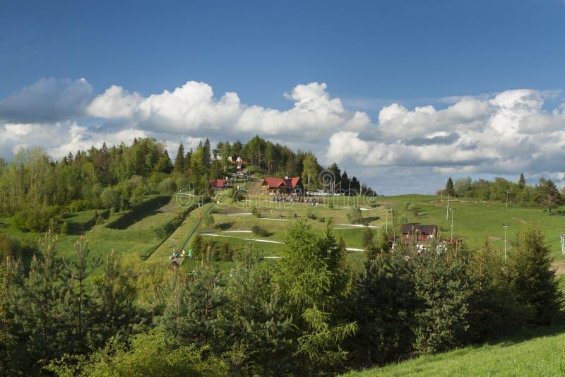 Polen Pieniny berg, Palenica arkivbilder