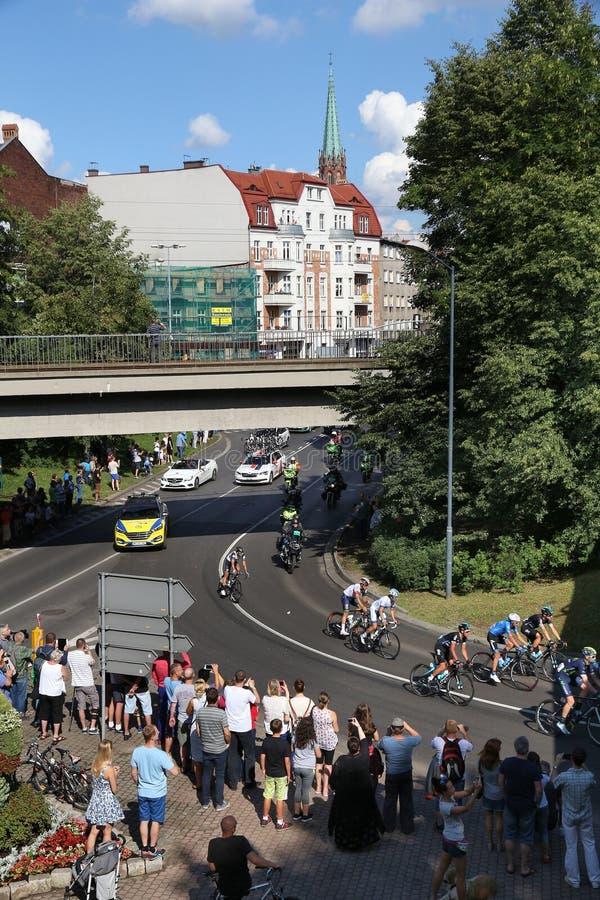 Polen-Rundfahrt Peloton stockfotos