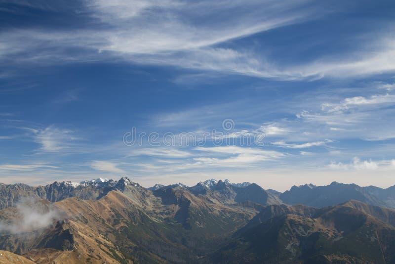 Polen/Slowakije, Tatra-Bergen, panorama ` royalty-vrije stock fotografie