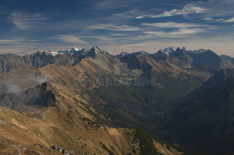 Polen/Slowakije, Tatra-Bergen, panorama royalty-vrije stock foto