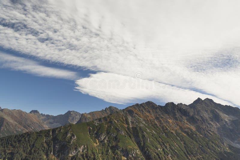 Polen, Slowakije, Tatra-Bergen, panorama royalty-vrije stock foto's