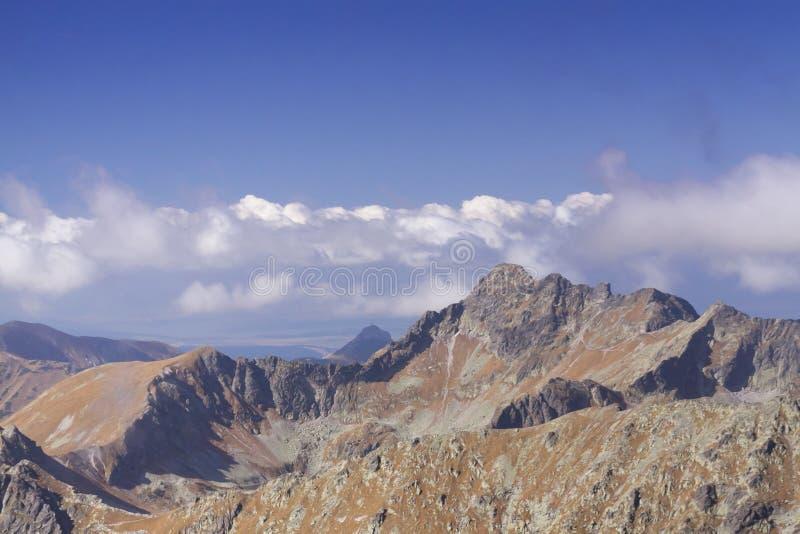 Polen, Slowakije, Tatra-Bergen, panorama royalty-vrije stock foto