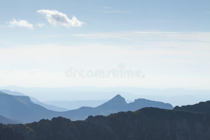 Polen, Tatra-Bergen, Giewont-Piek van Zuidoosten wordt gezien dat royalty-vrije stock foto