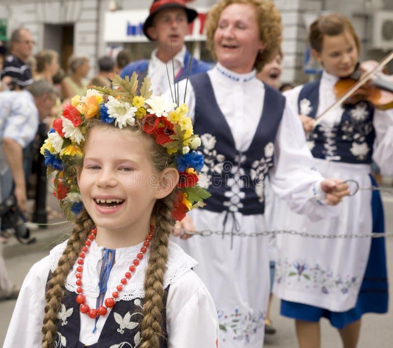 Polen-traditionelle Volksgruppe lizenzfreie stockbilder