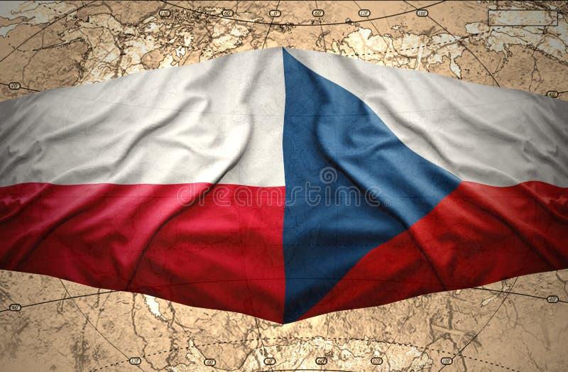 Polen und Tschechische Republik lizenzfreie abbildung