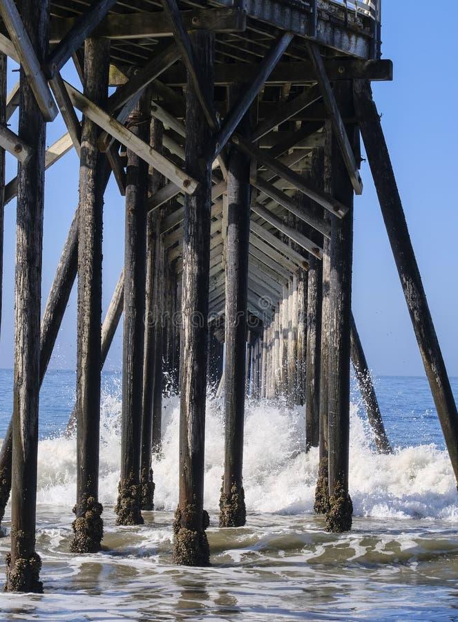 Polen van San Simeon Pier royalty-vrije stock foto
