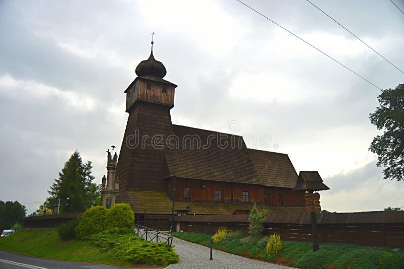 Polen, Wisla Mala, catolic tempel, houten kerk, toerisme, royalty-vrije stock foto's