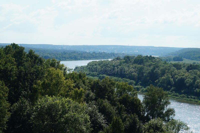 Polenovo, vistas del río Oka imagen de archivo libre de regalías