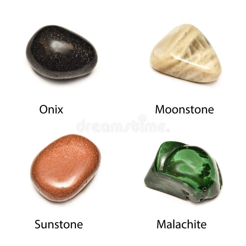 Polerade mineraler royaltyfri bild