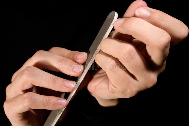 polerowanie paznokci zdjęcia stock