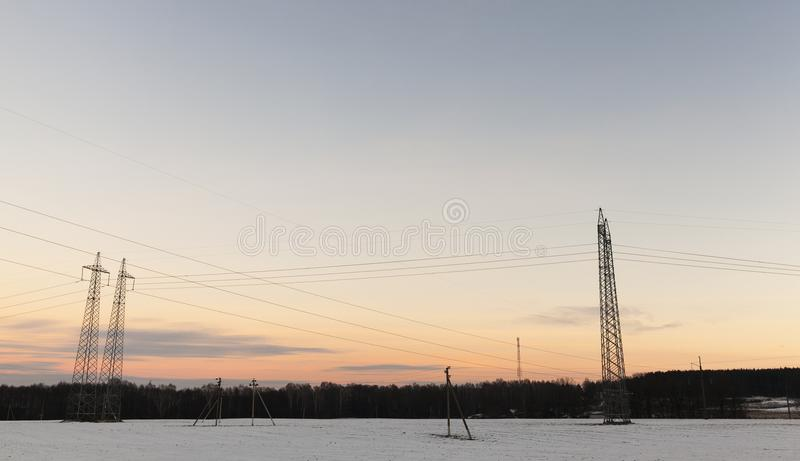 Pillar in winter royalty free stock images