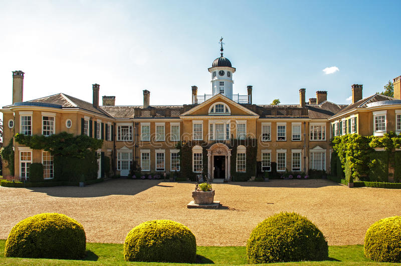 Polesden Lacey House. Polesden Lacey is an Edwardian house (expanded from an earlier building) and estate. It is located on the North Downs at Great Bookham royalty free stock images