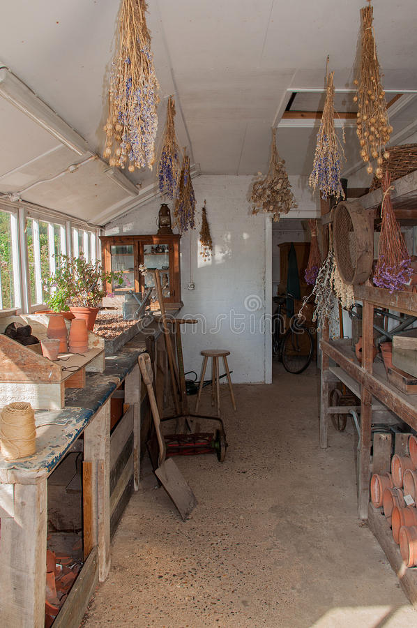 Polesden Lacey Potting Shed photo libre de droits
