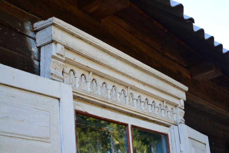 Polesie Träarkitektur royaltyfria bilder