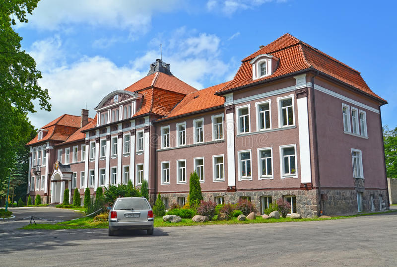 POLESSK, RUSSIA. Kaliningrad branch of the St. Petersburg state agricultural university stock photo