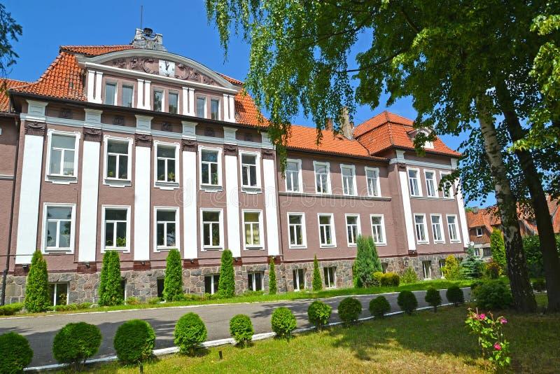 POLESSK, RUSSIE Vue du bâtiment de la branche de Kaliningrad de l'université agricole d'état de St Petersburg photo stock