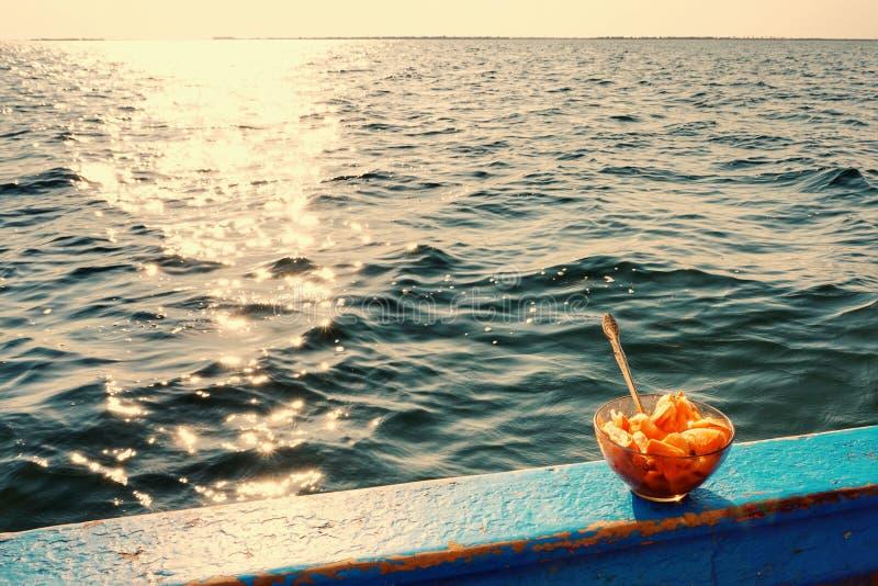 Polewka na łodzi fotografia stock
