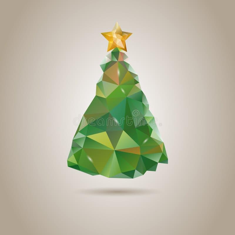Poli albero di Natale basso di scarabocchio illustrazione vettoriale
