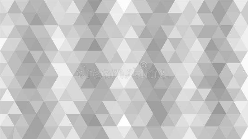 Poli basso grigio chiaro, d'argento, triangolare, fondo del modello dell'estratto del mosaico, grafico poligonale dell'illustrazi illustrazione di stock