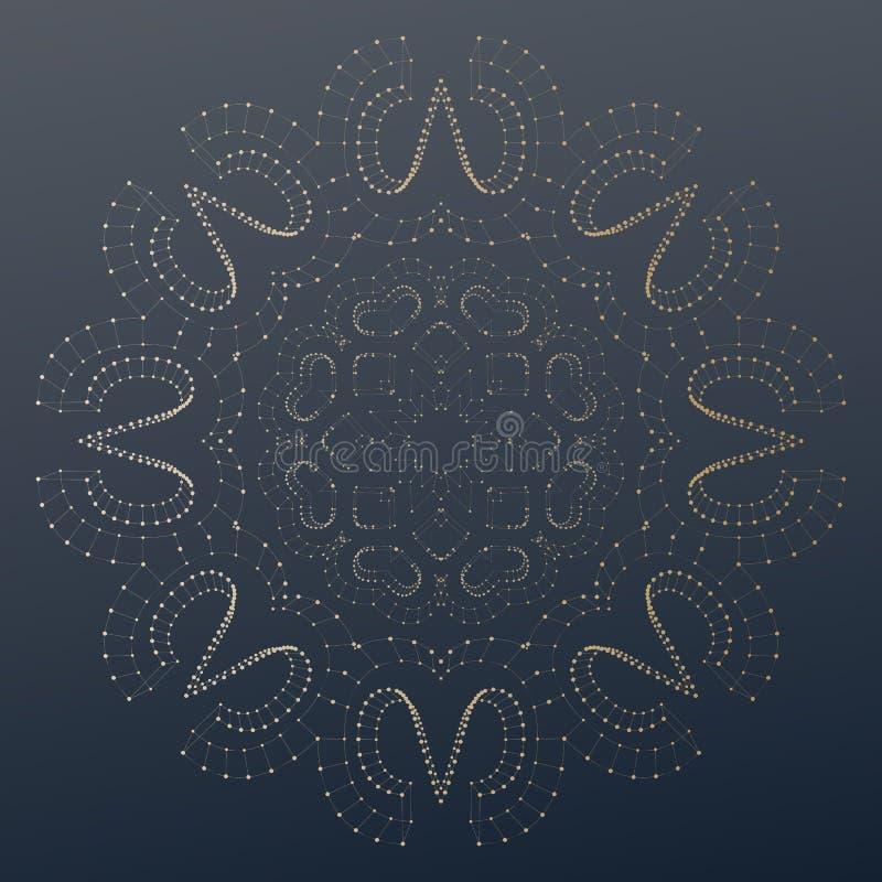 Poli contesto basso poligonale astratto con i punti e le linee di collegamento, struttura del collegamento Vettore o scienza digi illustrazione vettoriale