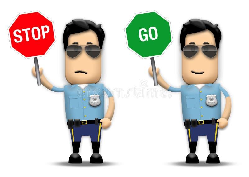 Poli de tráfico stock de ilustración