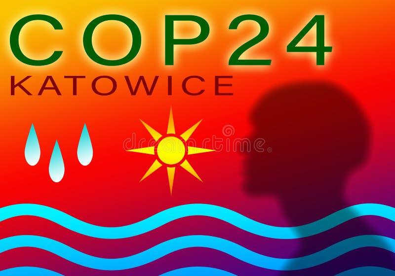 POLI 24 en Katowice, concepto del acontecimiento del illustation de Polonia fotos de archivo