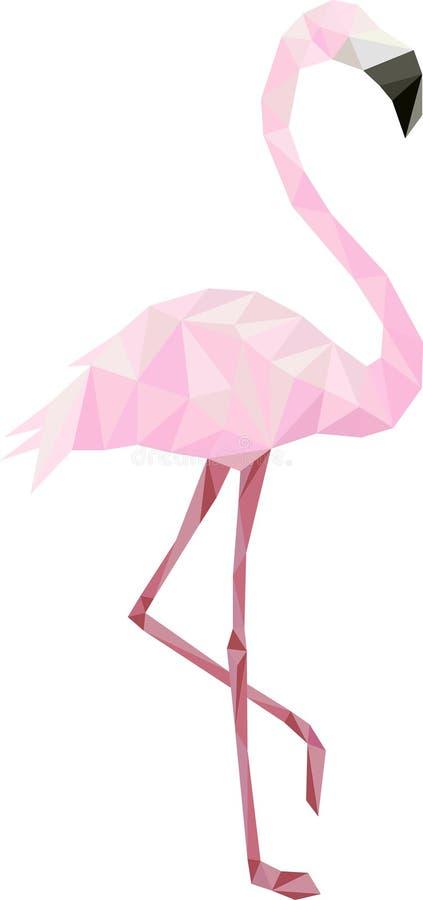 Poli fenicottero basso rosa fotografie stock