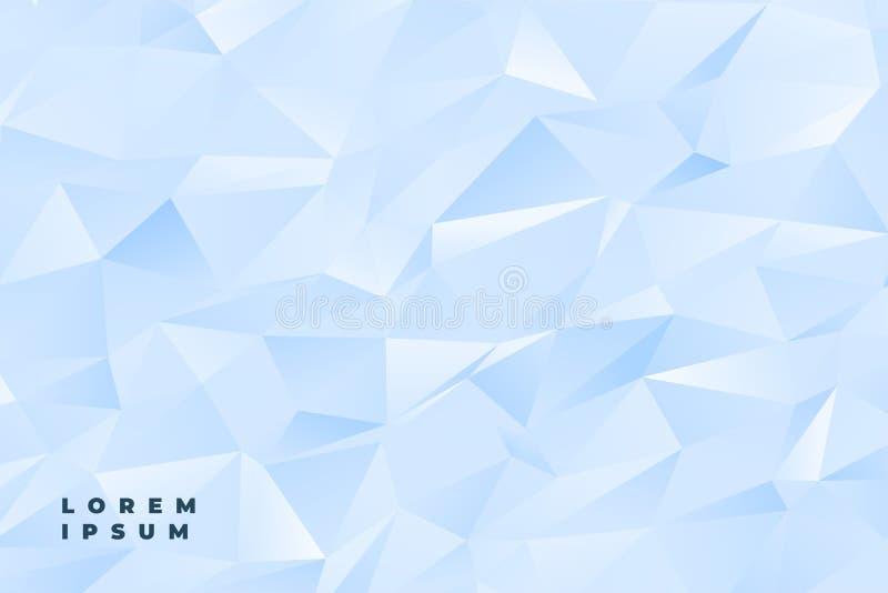 Poli fondo basso blu-chiaro dell'estratto o bianco sottile illustrazione di stock