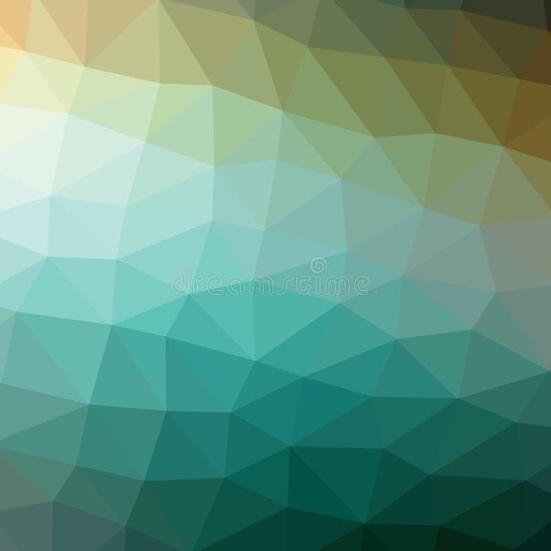 Poli fondo basso geometrico astratto verde scuro variopinto del grafico dell'illustrazione di stile illustrazione di stock
