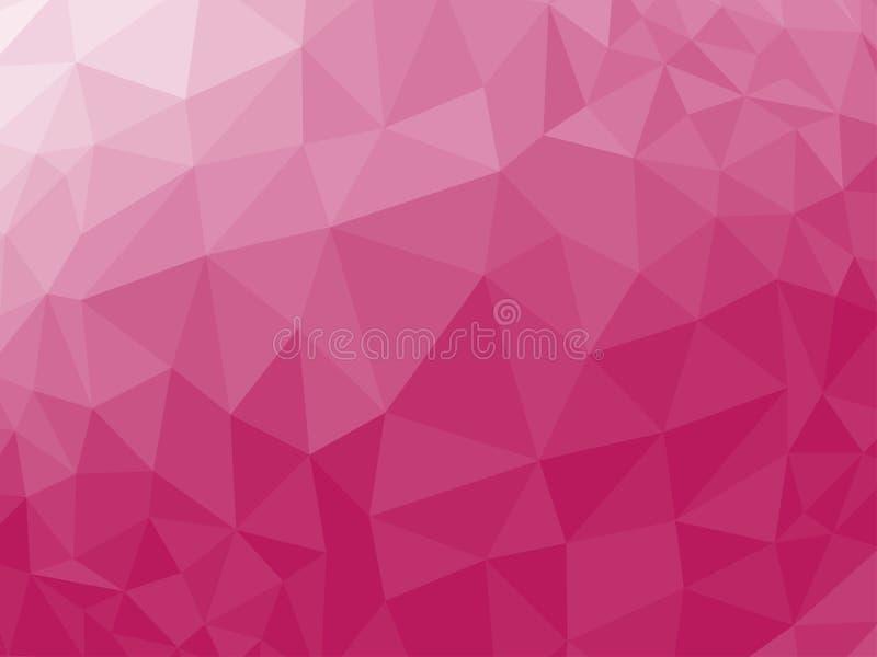 Poli fondo basso triangolare arruffato geometrico astratto rosso del grafico dell'illustrazione di vettore di stile illustrazione di stock