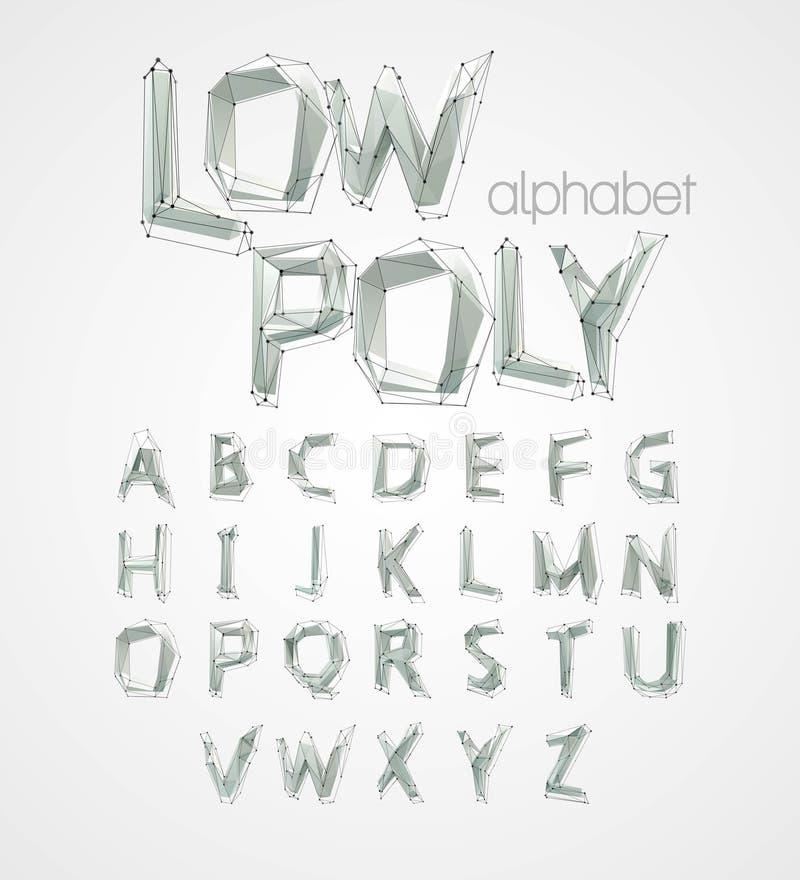 Poli fonte bassa di alfabeto Illustrazione di vettore royalty illustrazione gratis
