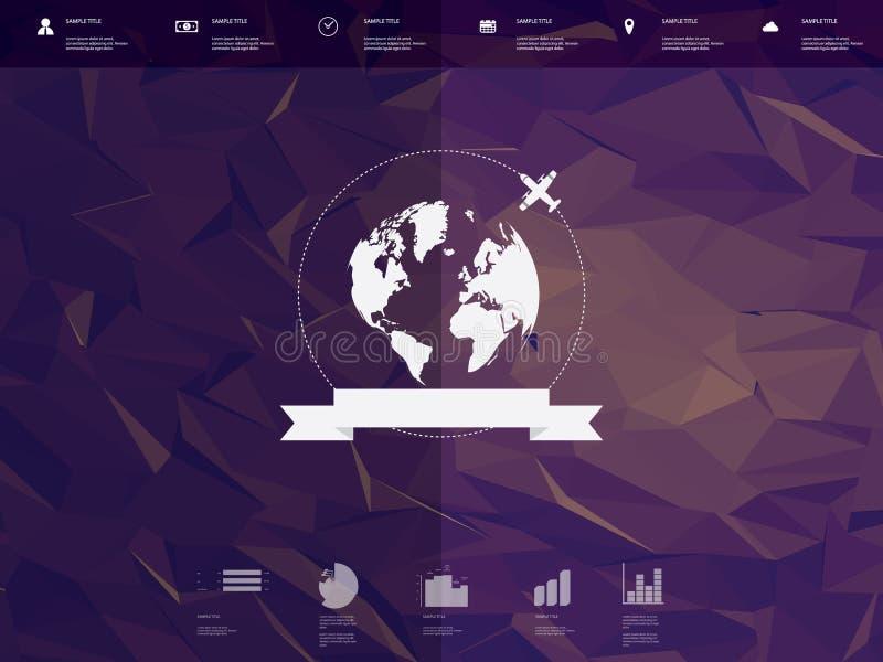 Poli interfaccia utente bassa del modello di infographics con royalty illustrazione gratis