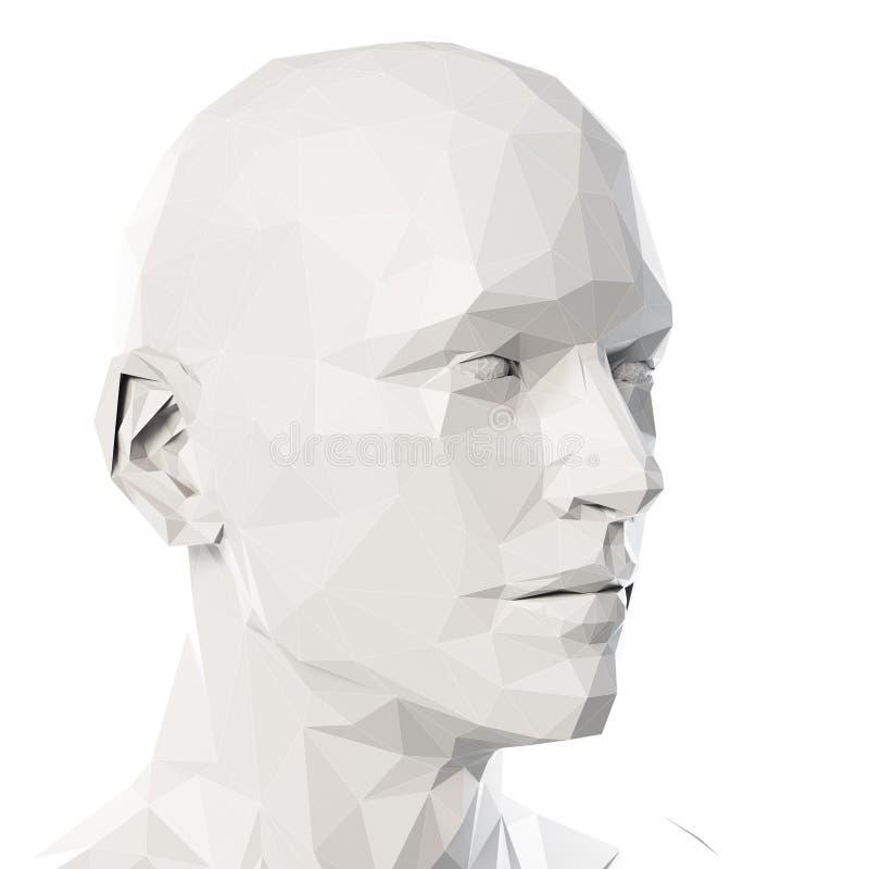 Poli- styl głowa royalty ilustracja