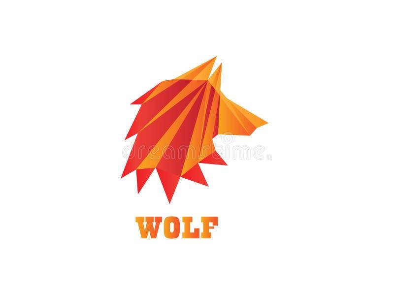 Poli- wilk głowy wielobok dla logo projekta ilustracji ilustracja wektor