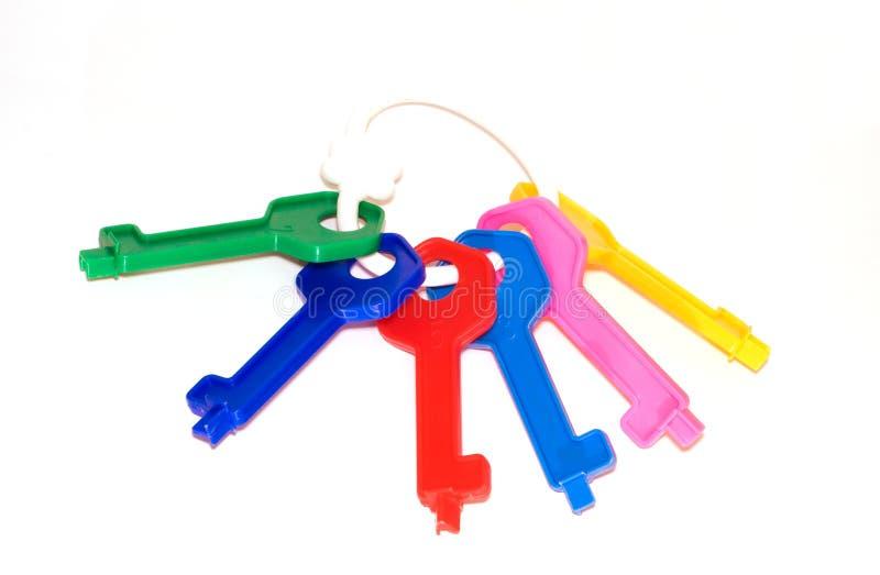 Polia de chaves multi-coloured do brinquedo imagens de stock