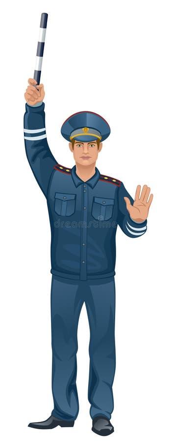 Policía ilustración del vector