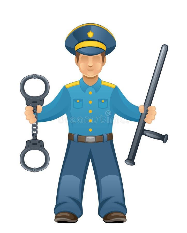 Policía stock de ilustración