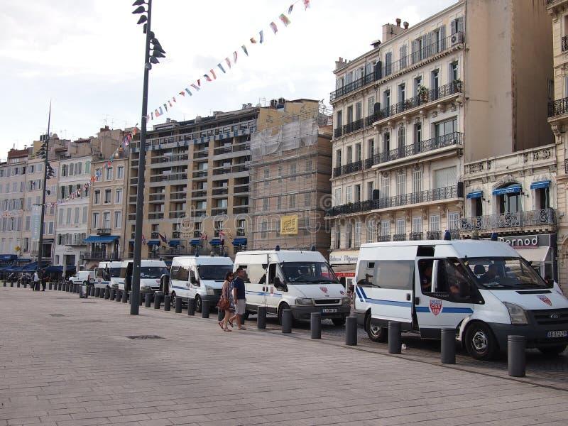 Policía antidisturbios de Marsella fotografía de archivo libre de regalías