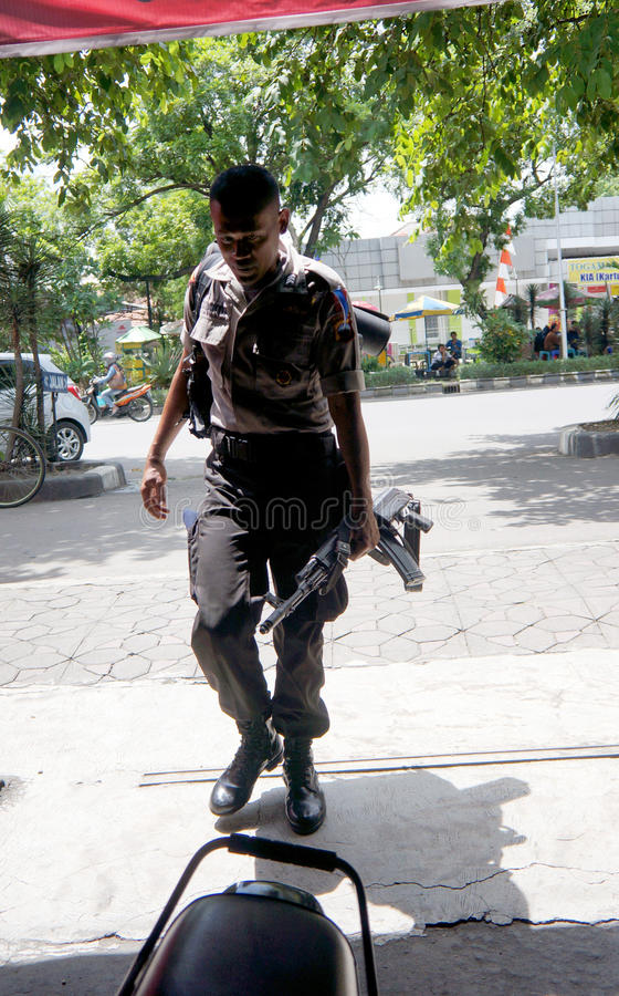 Policía armada fotos de archivo libres de regalías