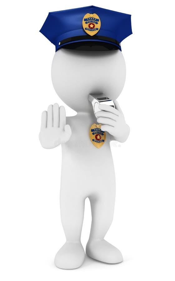 policía blanco de la gente 3d ilustración del vector