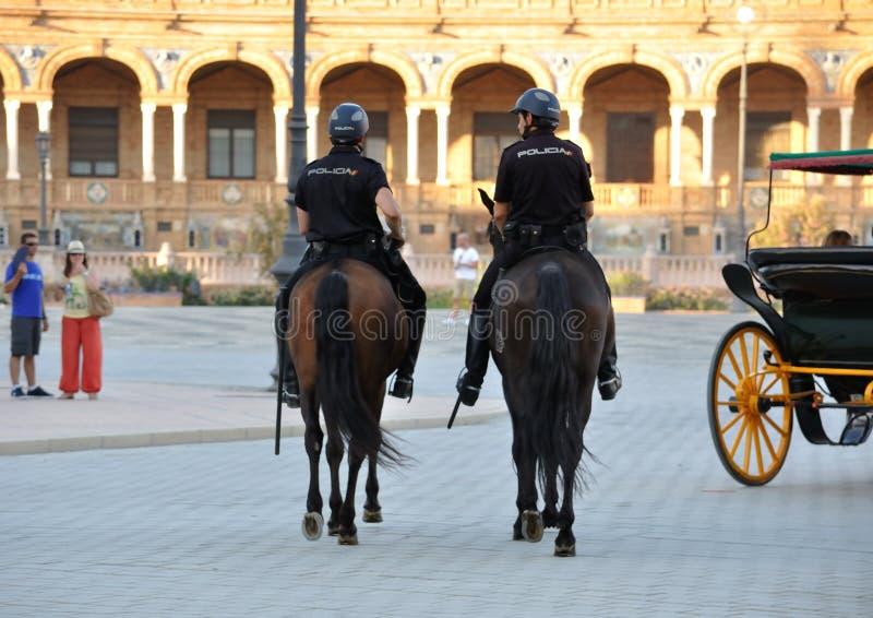 Policía a caballo imagen de archivo
